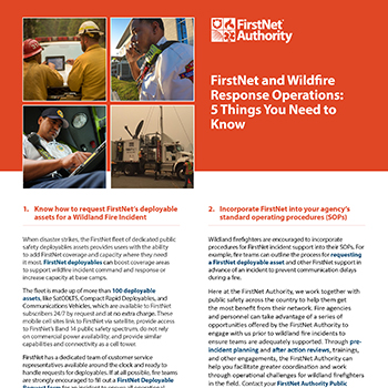 FirstNet and Wildfire Response Operations