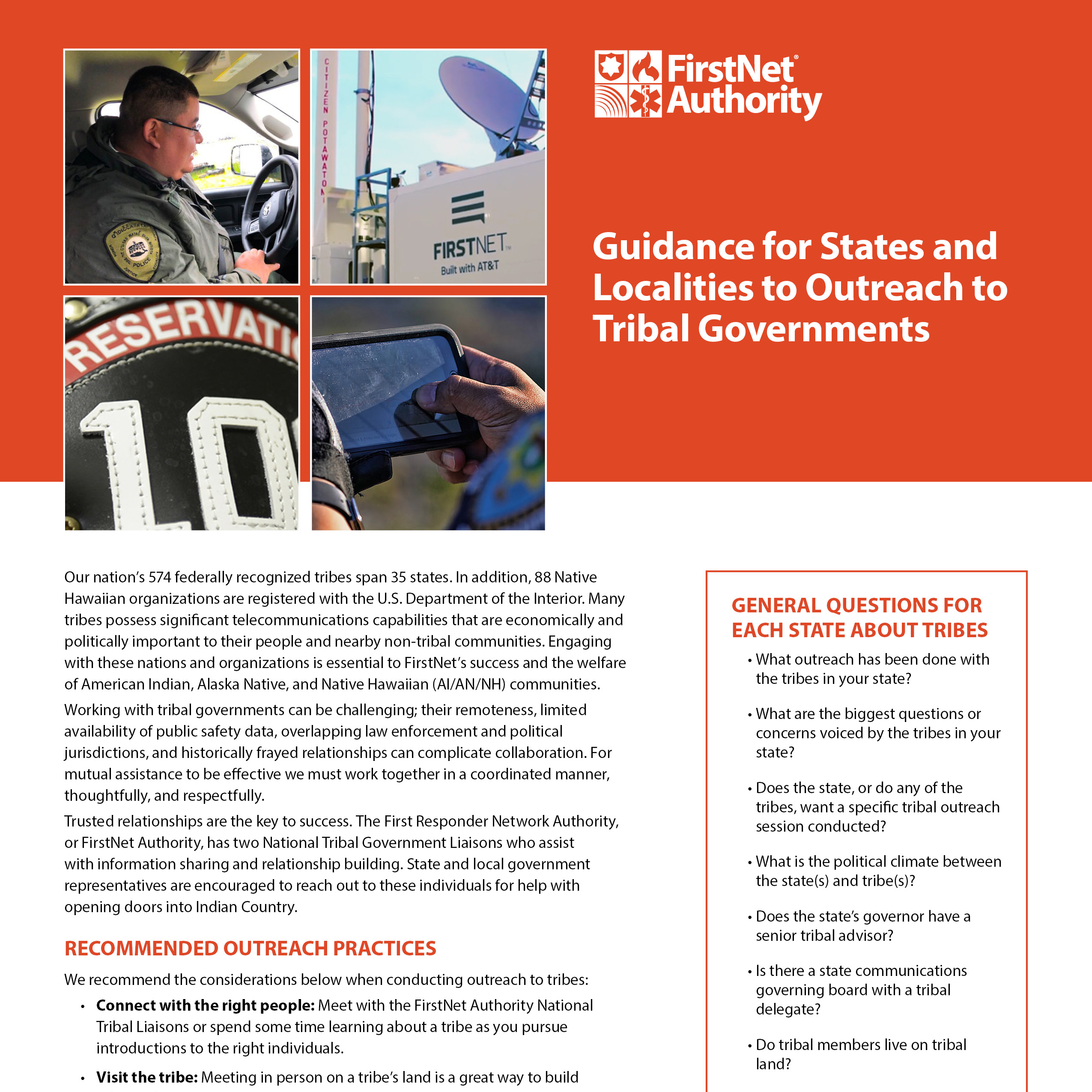 Guidance for States and Localities to Outreach to Tribal Governments Cover