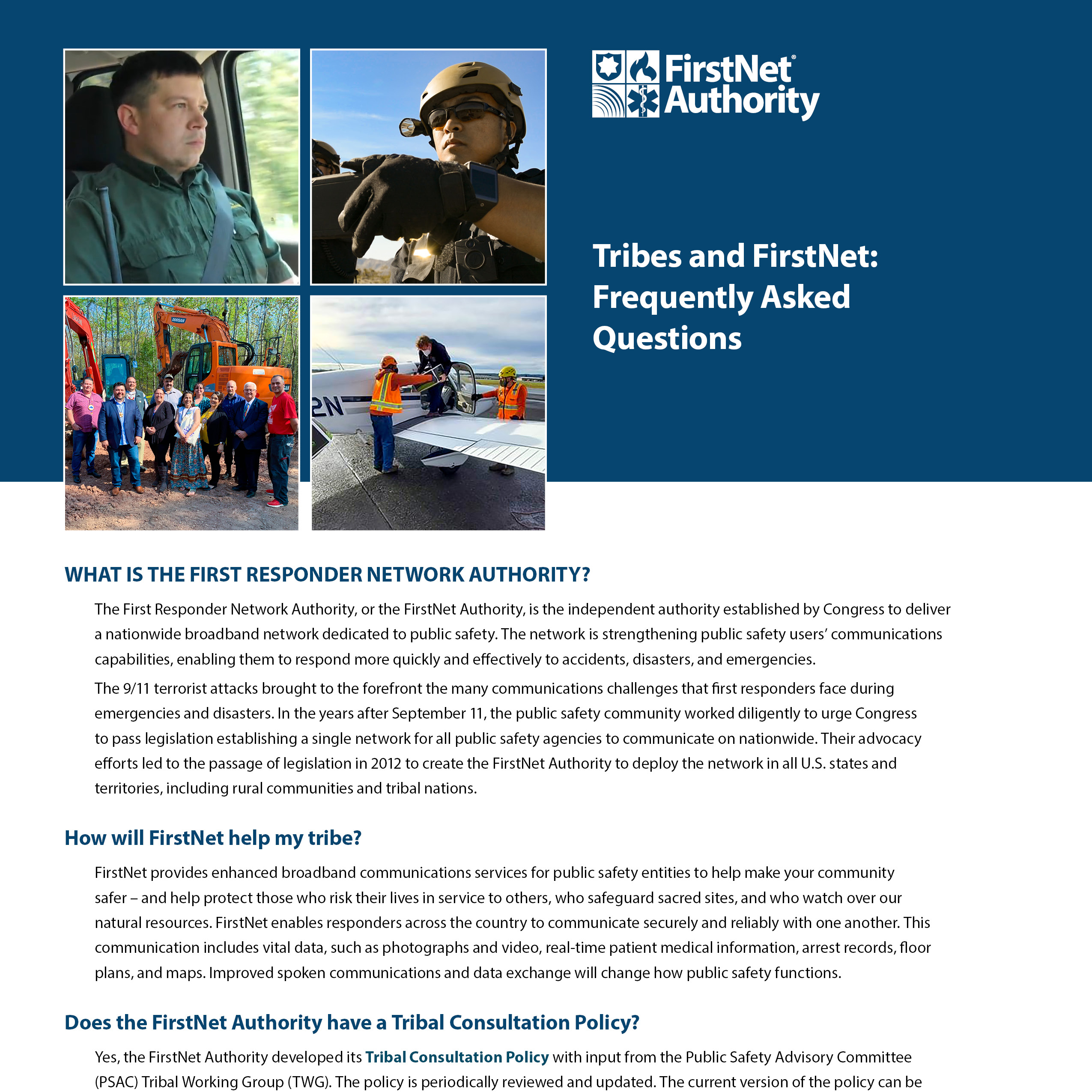 Tribes and FirstNet: Frequently Asked Questions
