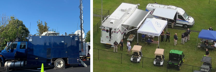 Deployable; Aerial view of incident exercise