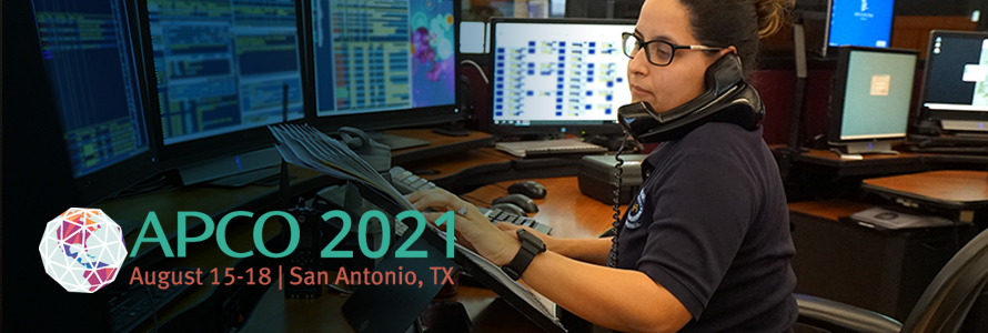 """APCO 2021 logo; """"APCO 2021; August 15-18