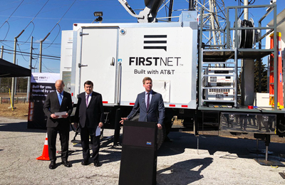 FirstNet Authority Acting CEO Ed Parkinson and Congressman Dutch Ruppersberger (Md.) unveil new cell site to boost communications for first responders in Baltimore.