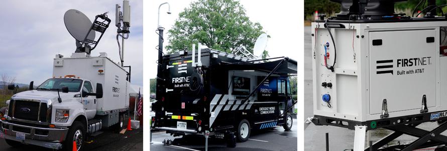 A SatCOLT, a Rapid Communications Vehicle, a Compact Rapid Deployable