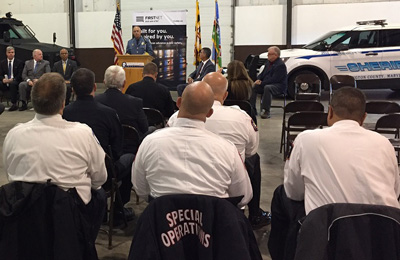 During an event marking one year of FirstNet in the State of Maryland, Sheriff Mullendore discusses how the network is benefited Washington County during severe flooding in the spring of 2018.