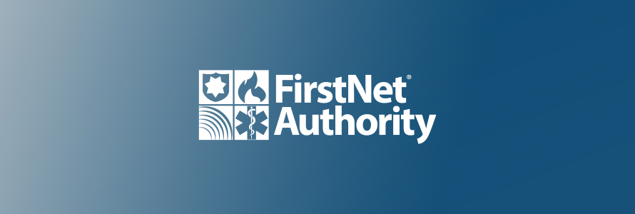 FirstNet Authority logo with gradient blue background