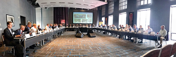 PSAC meets with the FirstNet Authority at its Summer meeting in June 2018.