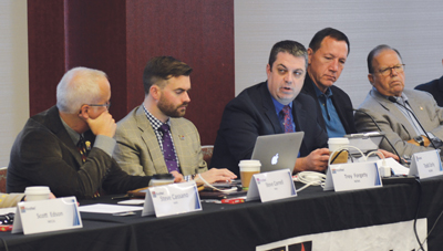 Todd Early and Edward Horowitz participate in a 2016 PSAC meeting with FirstNet.