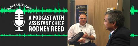 Assistant Chief Rodney Reed speaks to the Public Safety First host